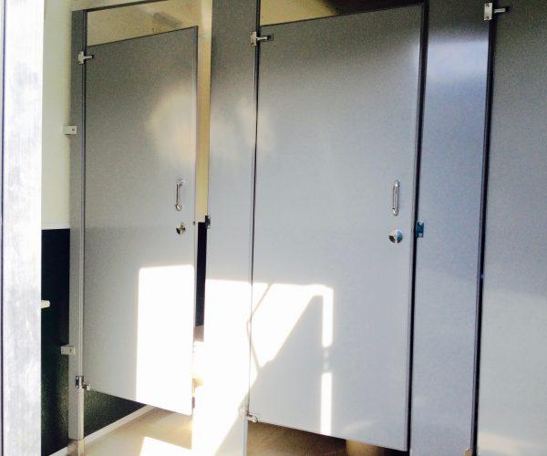 Large Restroom Trailer Rentals DE - Inside stalls