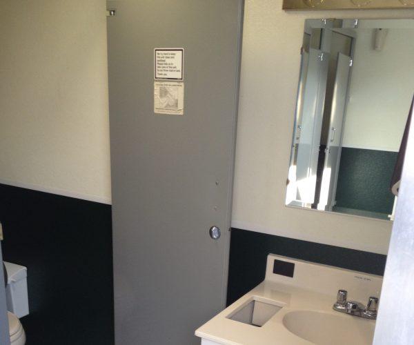 Large Restroom Trailer Rentals DE - Inside sinks