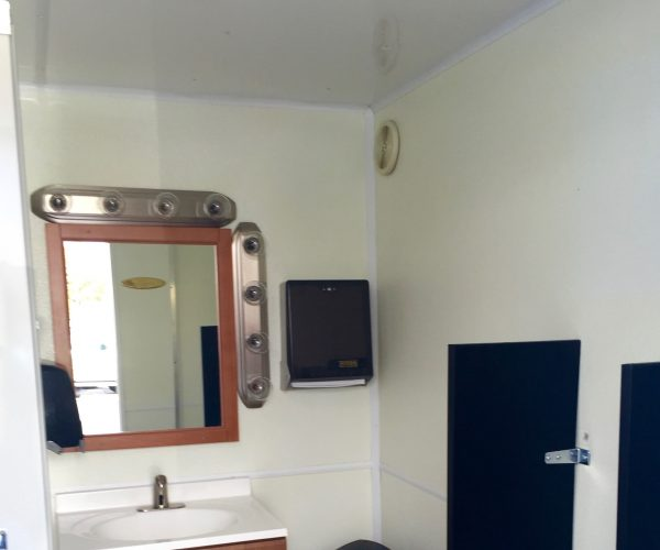 Medium Restroom Trailer Rentals DE - male inside 2